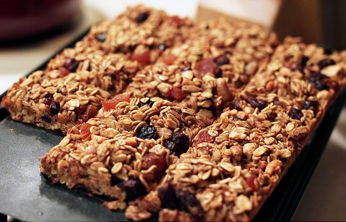 A granola rúd lefogy