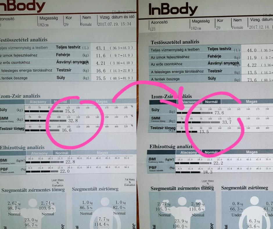 Hogyan kell a testzsír és az izomépítés 4 hónap lányoknak