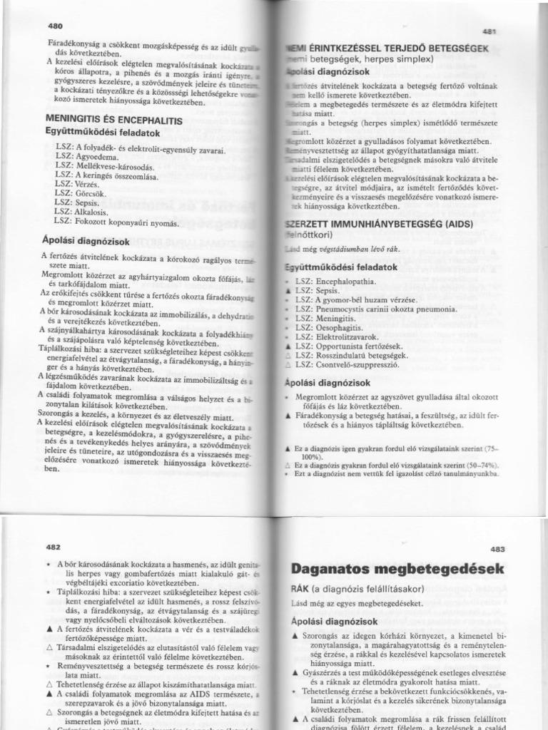ápolási diagnózis a fogyáshoz