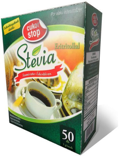 Cukor Stop stevia por 50db