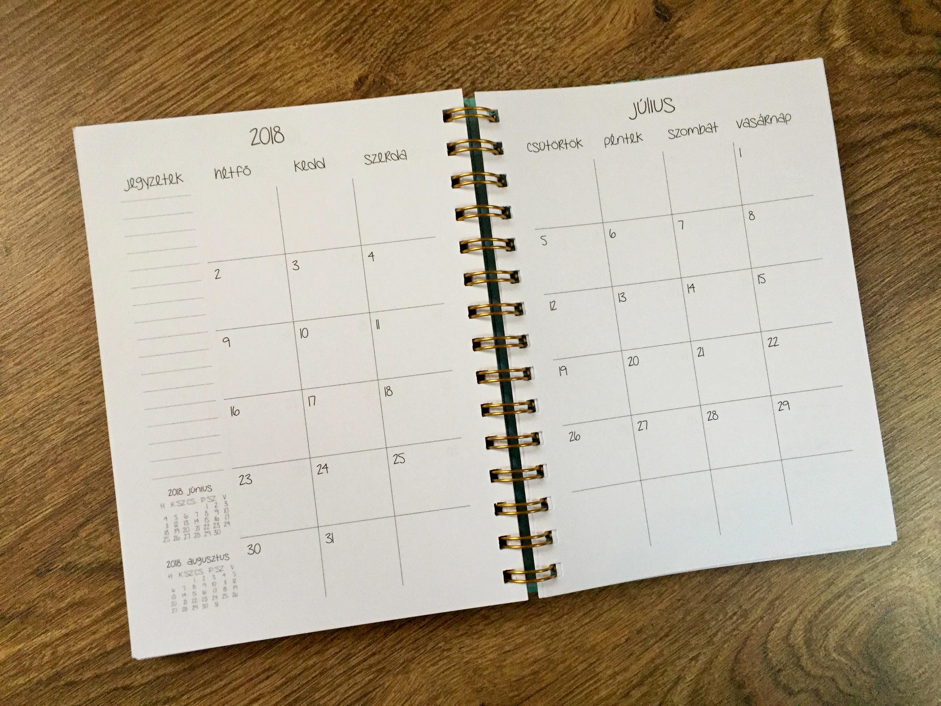 naptár fogyni)
