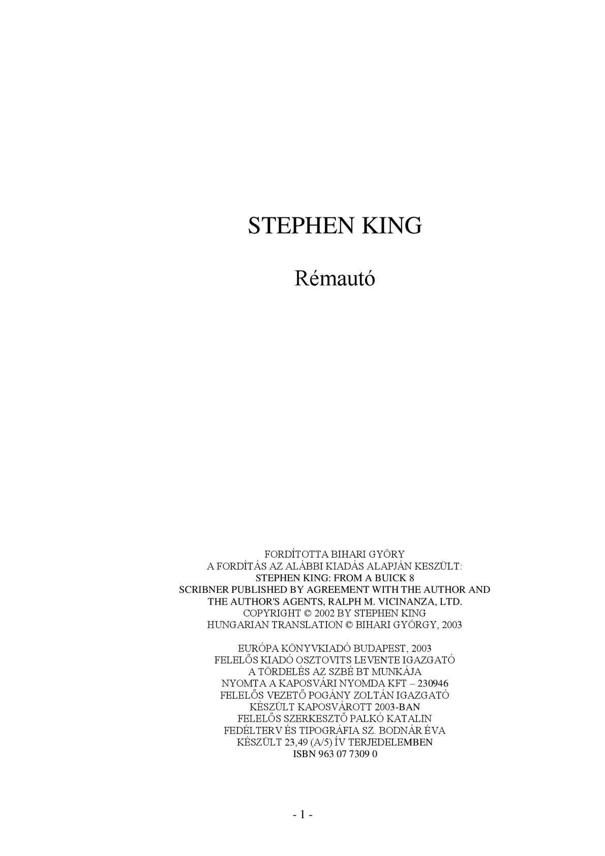 Calaméo - Stephen King - A tűzgyújtó