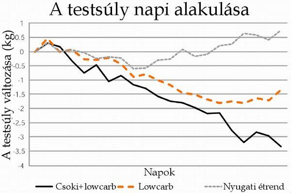 fogyás grafikon