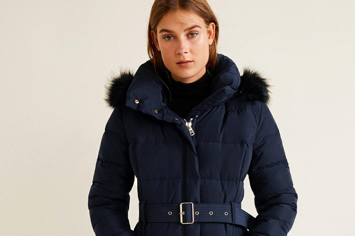 Női kabát, karcsúsító hosszú gyapjúutánzatú kabát