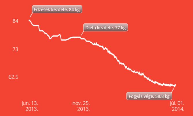fogyás grafikon)