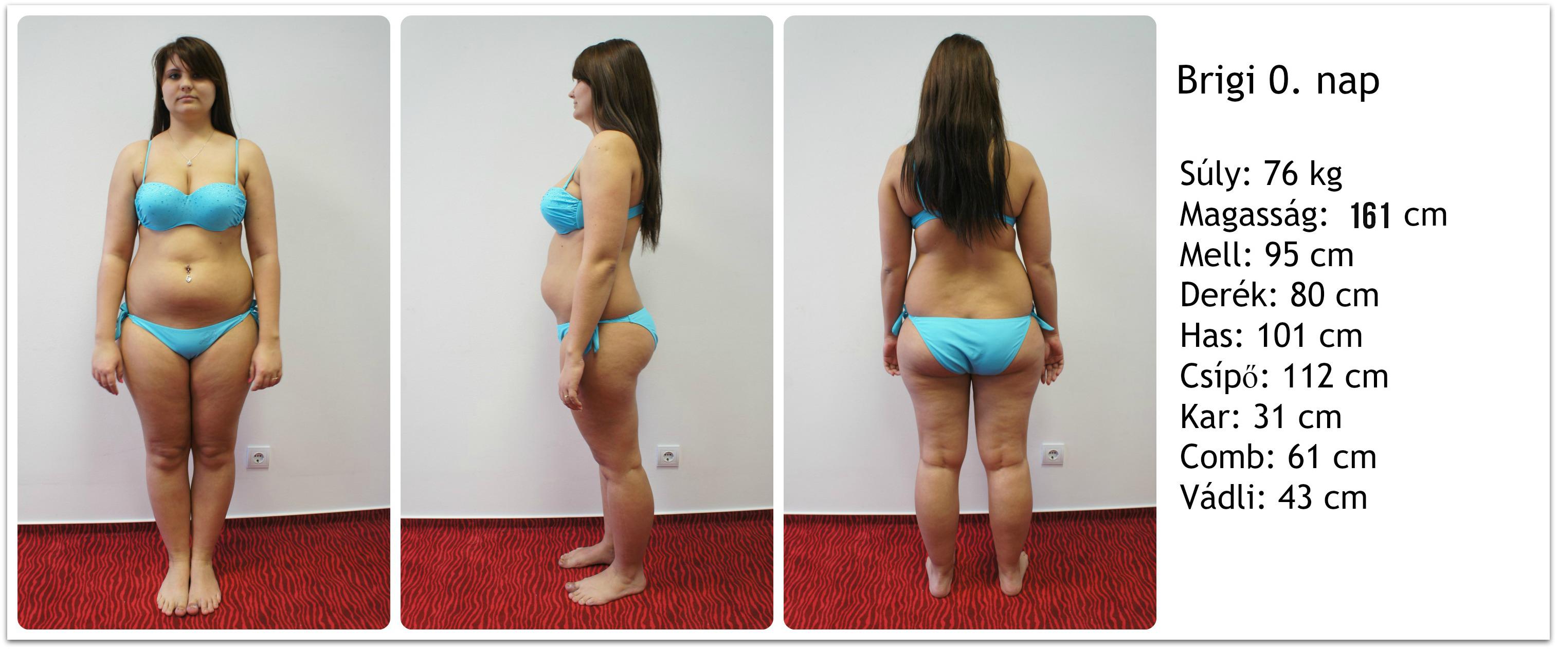 makrók fogyás női testtípus súlycsökkenés a hátán