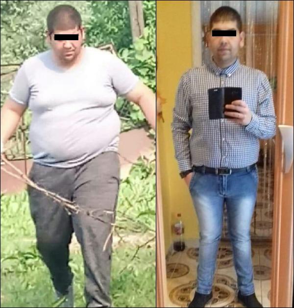 32 éves férfi fogyás