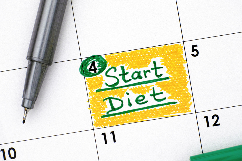 fogyás célok naptár