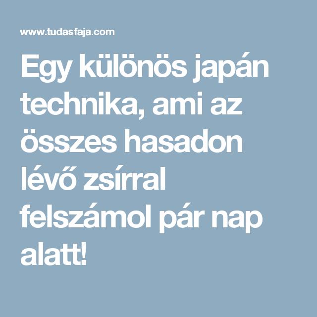 japán technika a fogyáshoz